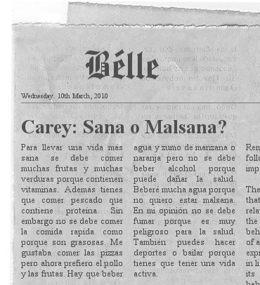 Newspaper - Belle.