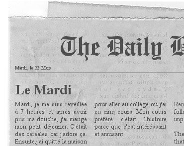 Newspaper french